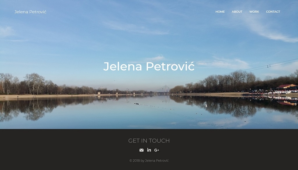 Jelena Rota - Web design and development for Jelena Petrovic