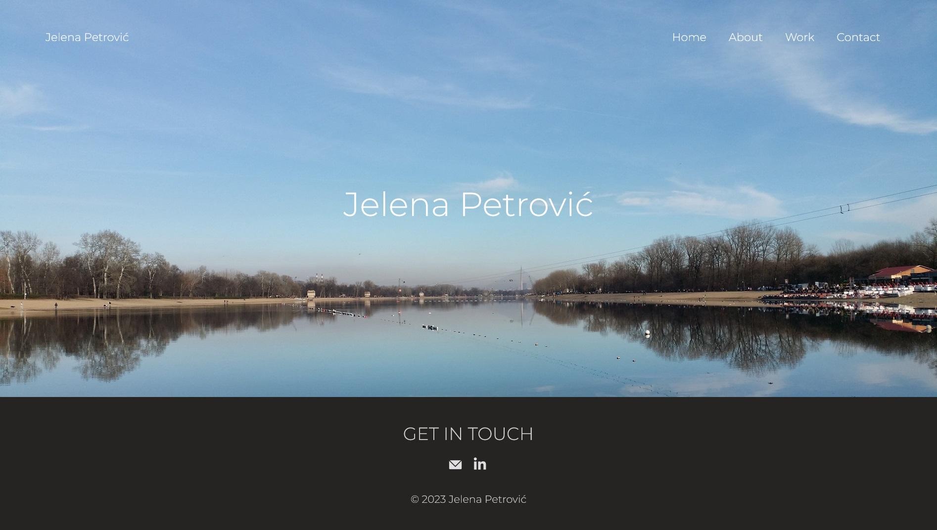 Jelena Rota - Web design and development for Jelena Petrovic