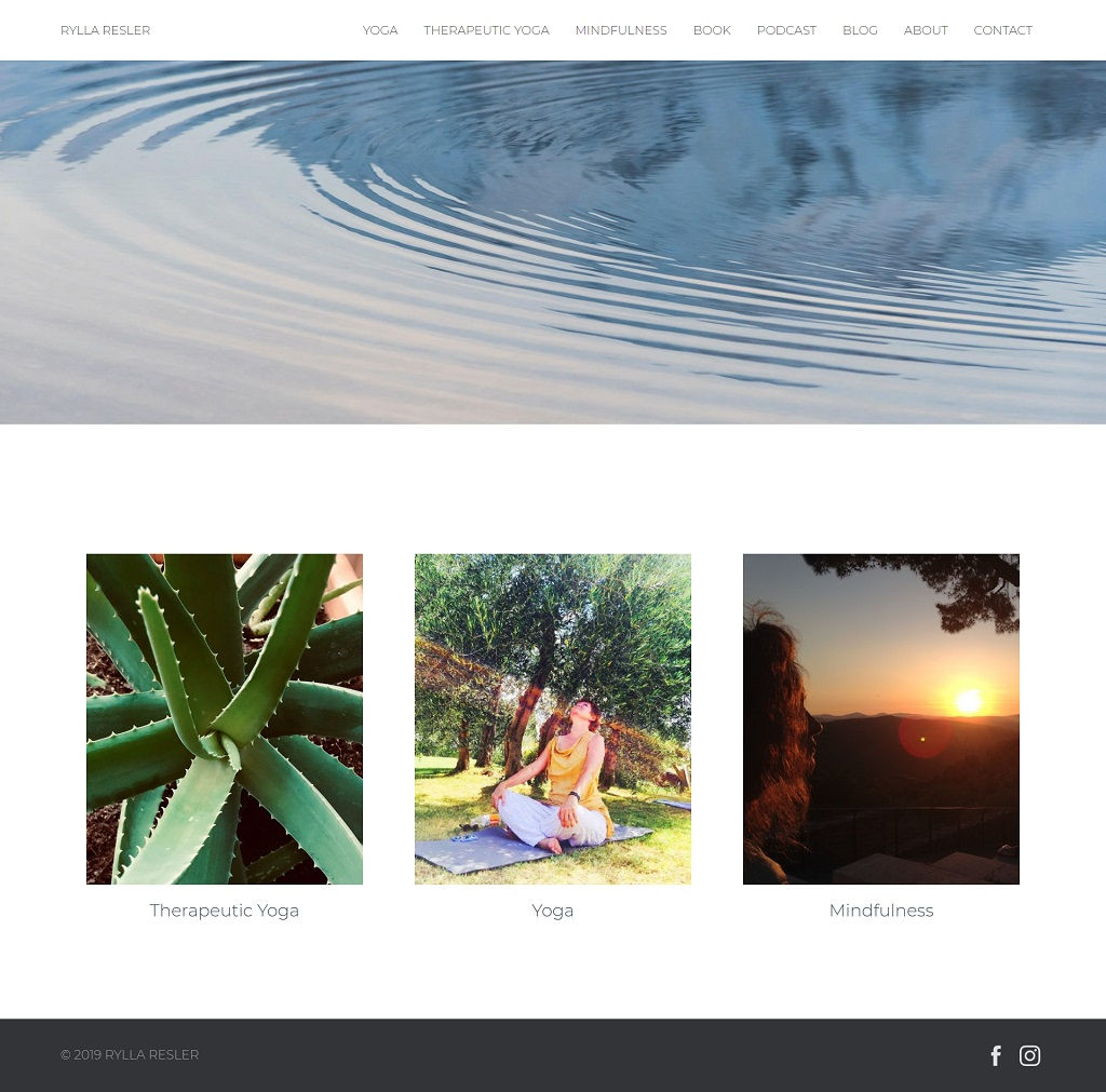 Jelena Rota - Web design and development for Rylla Resler, yoga teacher in Basel