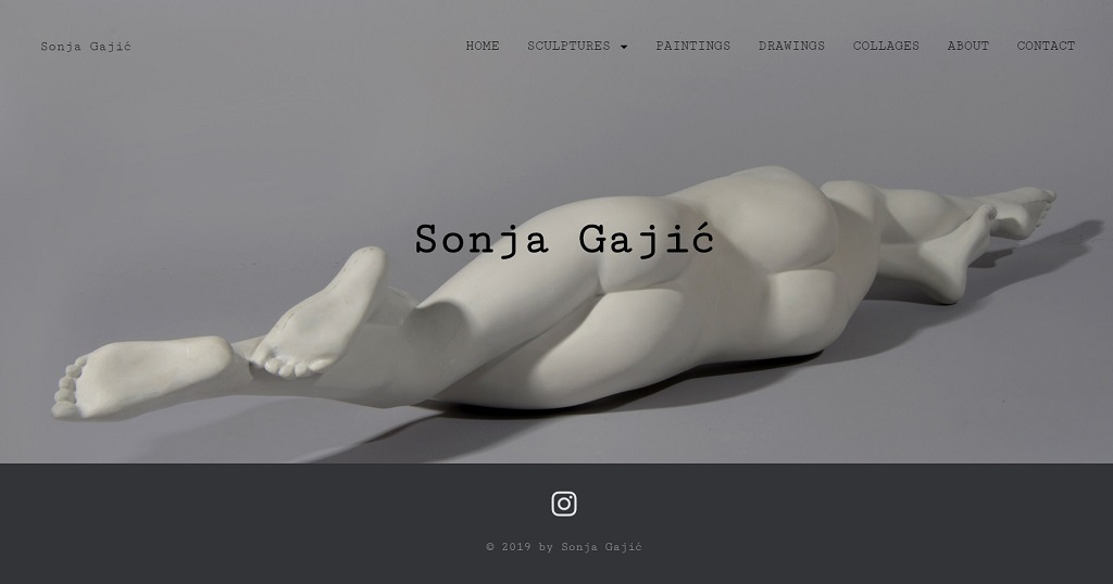 Jelena Rota - Web design and development for Sonja Gajic