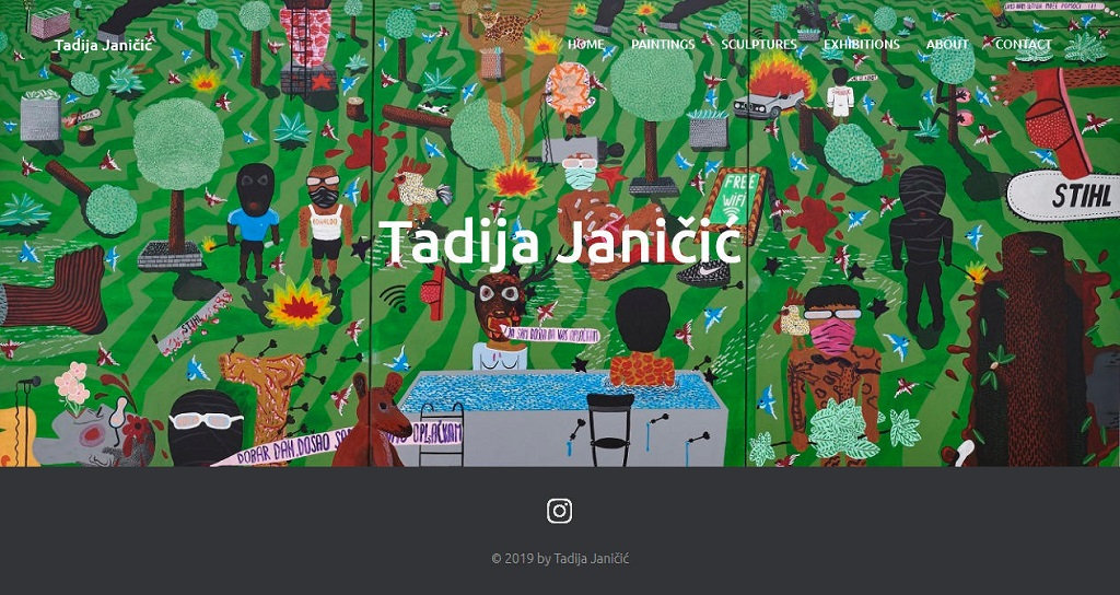 Jelena Rota - Web design and development for Tadija Janicic
