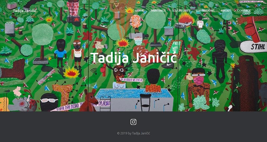 Jelena Rota - Web design and development for Tadija Janicic